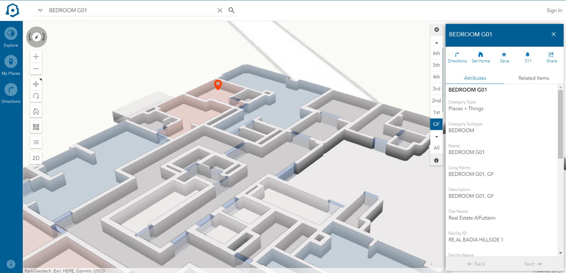 Kapcite ArcGIS Indoors Interface